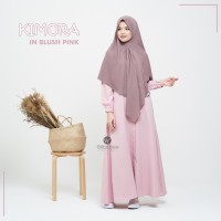 URFIMUTIYARO KIMORA DRESS BLUSH PINK GAMIS ONLY DAILY KATUN MEDINA ADE