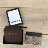 Dompet Gucci Card Holder GG Supreme Print Mirror 451277