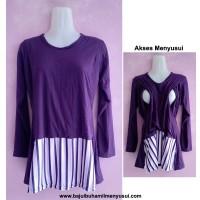baju ibu hamil menyusui hanna series ungu