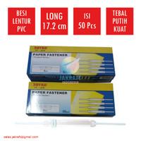KENKO Paper Fastener Acco Snelhecter Tulang Plastik Putih PF-508W