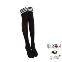[Gults] 100% Cotton over knee stocking socks kaos kaki panjang BLACK