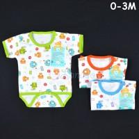 LIBBY Baju Kodok Segitiga / Jumper Bayi/Baby Motif (0-3M)