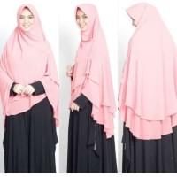 Jilbab Hijab Kerudung Khimar Ceruti Pet OSD Jumbo Instan Syari 2 Layer