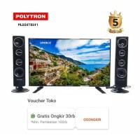 POLYTRON Cinemax LED TV with Tower Speaker PLD 24T8511 Garansi 5 tahun