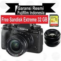 Harga fujifilm x t2 kit 18 55 mm xt2 kit with xf 35mm f1 4 promo | Pembandingharga.com
