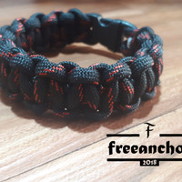 GELANG PARACORD/PARACORD BRACELET SNAKE KNOT LAVA STYLE