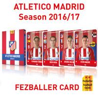 Kartu Bola Fezballer cards team ATLETICO MADRID season 2016-2017