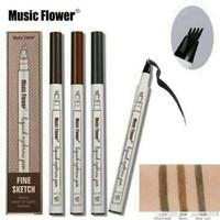 [ Fine Sketch ] Music Flower Fine Sketch Liquid Eyebrow Pen Waterproof