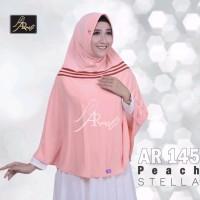 Hijab Arrafi AR 145 Matt Stella [ORI] - Peach