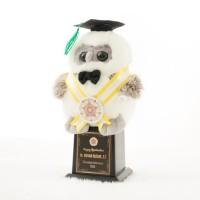 Piala Boneka Wisuda OWL bisa Request Nama dan Logo Kado Wisudaku 4d9902d920