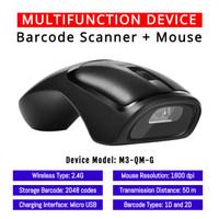 Multifunction Wireless Mouse + Barcode Scanner (1D, 2D, QR, EFaktur)