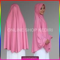 Jilbab Instan Pet Antem Super Jumbo Hijab Kaos Bergo Syari Khimar
