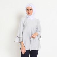 Hijab Ellysha BALLERINA RUFFLE BLOUSE GREY