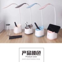 Lampu Meja LED tempat pen handphone holder hp Flexibel Touch Button