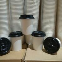 Paper cup 12 oz dan tutup isi 50 pcs