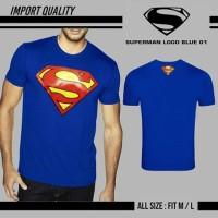 promo akhir tahun KAOS SPANDEX SUPERMAN LOGO BLUE 01 - IMPORT QUALITY