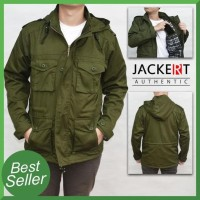 Jaket Parka Army - Military Green - Hijau Army, M Keren