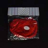 MIYO 1 Set Sarung Tangan & Kaos Kaki Rib Bayi/Baby Warna Merah (0