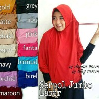 jilbab hijab umroh serut jumbo khimar instan serut syari jumbo jersey