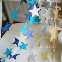 Star Paper Garland / Garland kertas bentuk bintang