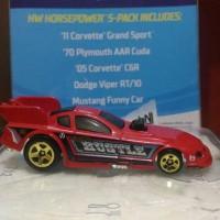 HOTWHEELS MUSTANG FUNNY CAR GIFT PACK
