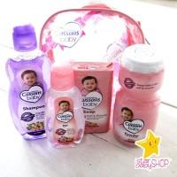 Bedak Bayi Sabun Shampoo Bayi Baby Oil - Cussons Baby - Pink Bag