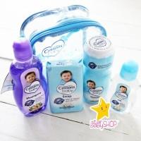 Bedak Bayi Sabun Shampoo Bayi Baby Oil - Cussons Baby - Blue Bag