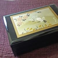 ORI Jepang, Japanese music box, motif Crane, mount Fuji