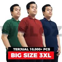 Baju Kaos Polo Shirt Kerah Big Size XXXL Pria Lacoste Bukan Gildan