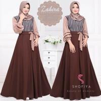 Baju Murah Wanita / Zahira Dress Choco / Grosir Baju Muslim Gamis Maxi