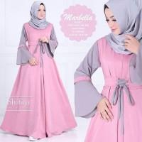 TERMURAH - Baju Atasan Pakaian Wanita Gamis Hijabers Marbella Dress Pi