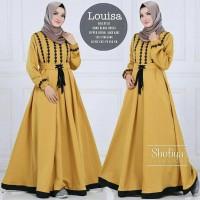 Baju Pakaian Wanita Gamis Hijabers Louisa Dress Mustard
