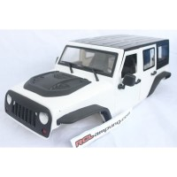 KYX Hard Body Rubicon Long Jeep Wrangler Unlimited 313mm 1/10 White