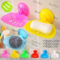 Gantungan Tempat Sabun Tanpa Paku & Lem / Plastic Sucker Soap - X008