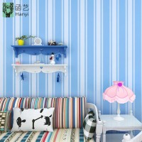 Stripe Blue 45cm x 10mtr Wallpaper Sticker