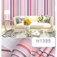Stripe Kecil Pink 45cm x 10mtr • Wallpaper Sticker