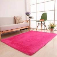 Karpet matras bulu rasfur polos uk 100x140x4