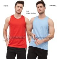 VM Singlet Polos Basic Katun Hitam - Singlet santai - Singlet Fitness