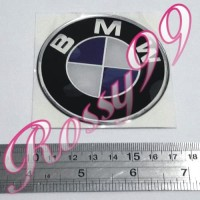 Sticker Timbul BMW Bulat 7cm Stiker Plastic Resin Tebal Exclusive NEW