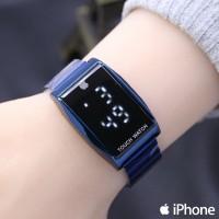Jam Tangan Pria / Wanita iphone LED SK298 Rantai Blue
