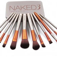 Naked3 Brush / Kuas Makeup Naked3 / Naked3 Isi 12Pcs