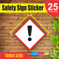 Sticker Safety Sign Rambu Tanda Peringatan Limbah B3 size 25 cm
