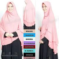 Jilbab/Hijab Khimar OSD Jumbo 2 Layer S8ZB