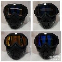 Kacamata google mask/trail/motocross/topeng helm half face