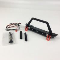 KYX 1/10 Alloy Front Bumper With LED Shackle for Axial scx10 scx10II