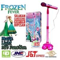 [FLASH SALE] Mainan Mic Karaoke Single Frozen 10 Free Baterai Bubble