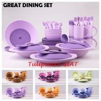 Paket Peralatan Makan Minum Komplit / Great Dining Set Tulipware