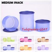Toples Bulat Isi 3 / Toples Anti Pecah / Medium Snack Time Tulipware