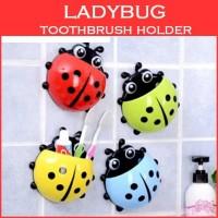Holder Kumbang / Lady Bug Tempat Odol Sikat Gigi Organizer Tooth Brush