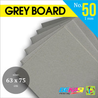 Karton Duplex Grey Hard Board No. 50 PLANO 63 x 75 Width +/- 1 mm